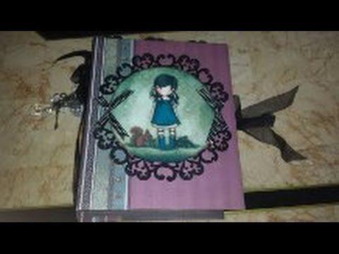 Scrapbook Mini Album Gorjuss - YouTube