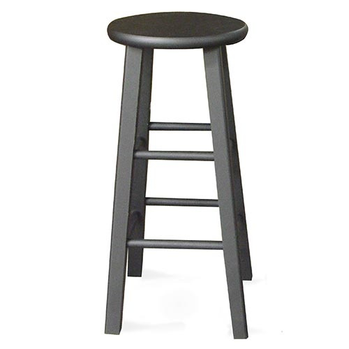 Round Top Counter Stool 24 Quot Black Walmart Stools And Black
