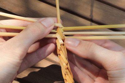 Straw Weaving – Heart