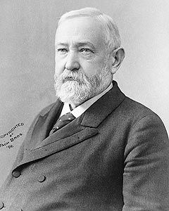 Portrait photo of President Benjamin Harrison. Harrison was the 23rd President of the United States (1889-1893).