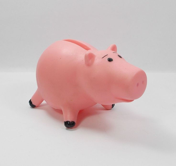 "Toy Story - Hamm - Toy Figure - Piggy Bank - Disney - 2"" Tall"
