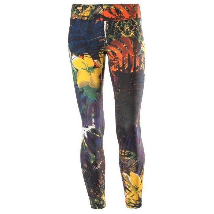 Leggings SUPERFIT - Taille Normal - Passform 7/8 - D.I.W.O.® Stoff - All-over tropisches Druckmotiv - Hosen - Kleidung - Damen | Freddy