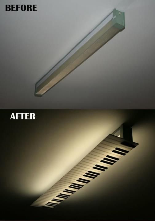 A lamp renovation for a #piano player's studio