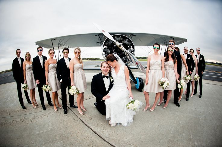 Real wedding: High-flying fun in a Massachusetts airport