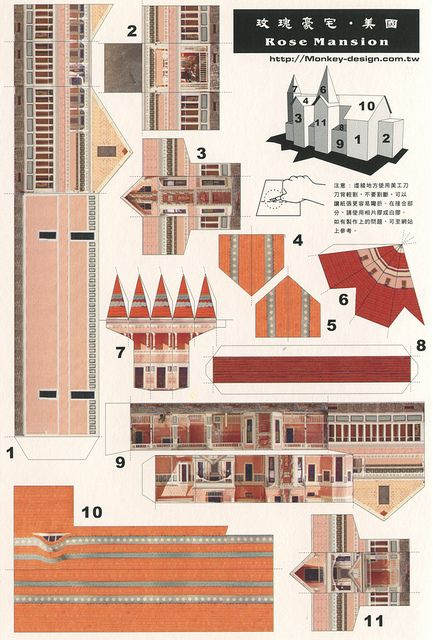 Rose Mansion - Cut Out Postcard by Shook Photos, via Flickr