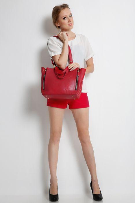 Marguerite bag #handbag #taswanita #bags #fauxleather #kulit #fashionable #stylish #totebag #colors #red