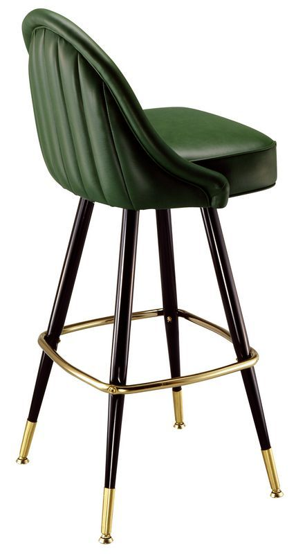 Bar Stool 2555 Channel Tufted Bucket Stool Seating