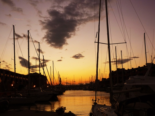 Genova - Porto - Sunset boats