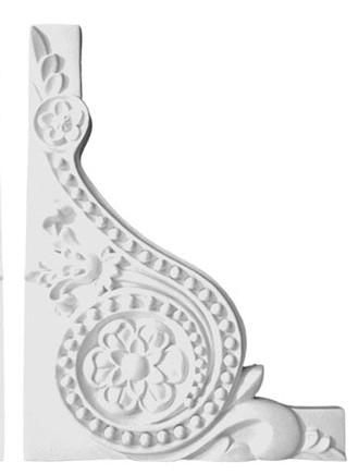 "8"" X 6"" X 3/4""- Toombs Decorative Stair Bracket - Right 