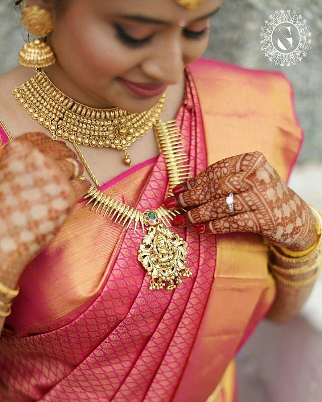 "South Indian Bride Fashion (@southindianbridalfashion) on Instagram: ""Beautiful South Indian Bridal Jewelry. Tag besties  Mua @prakatwork  @parvatham_suhas"""