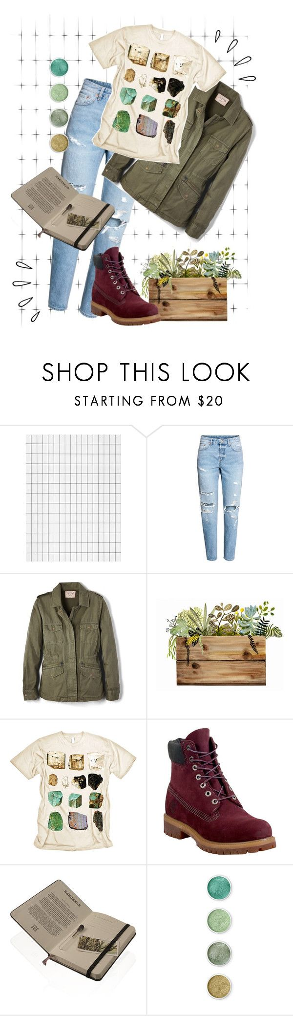 """""""adventure awaits"""" by fiona137 ❤ liked on Polyvore featuring ferm LIVING, H&M, Velvet by Graham & Spencer, Mineral, Timberland, Old Navy, Haeckels and Terre Mère"""