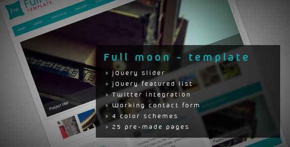 Full moon - HTML Template