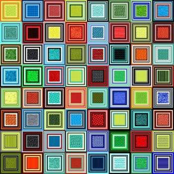 Potpourri117 - Squares2 - Jumbo - rj (Old) (400 pieces)