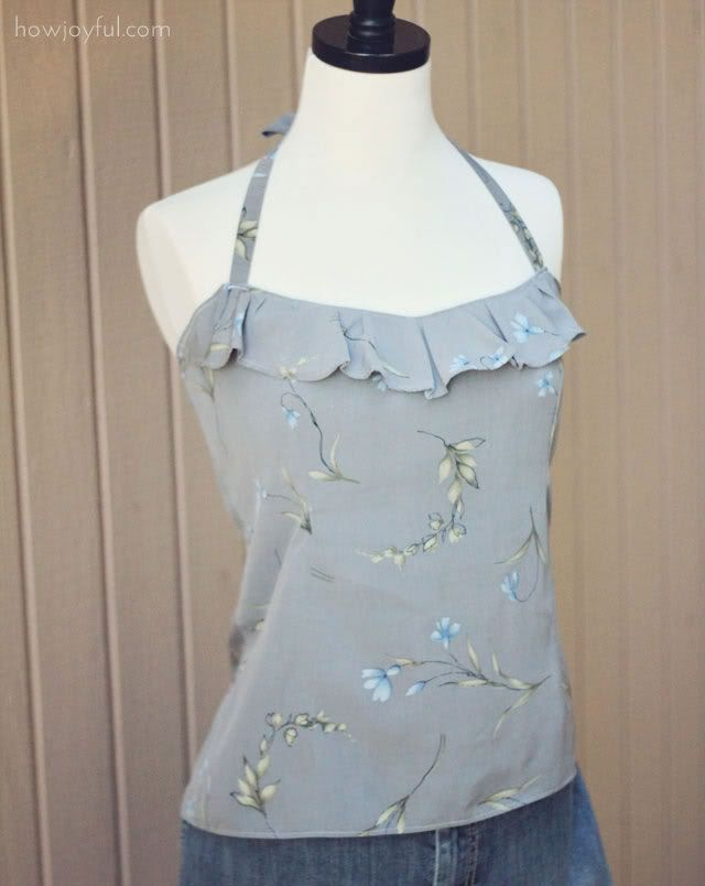 cute sewing projects: Summer Shirts, Shirts Ideas, Cute Tops, Halter Tops, Sewing Clothing, Cute Sewing Projects, Sewing Tops, Diy Projects, Cute Summer Tops