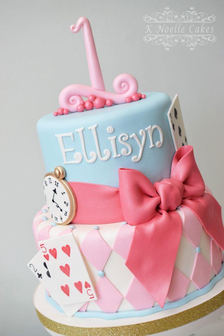 Alice In Wonderland Onederland Cake