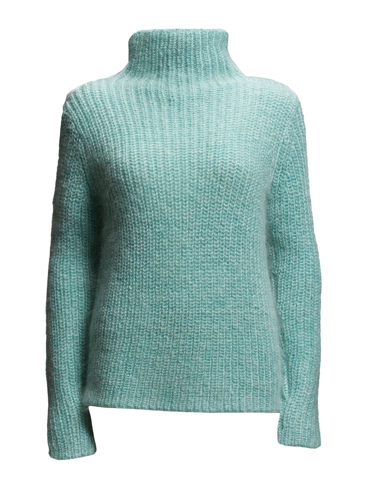 2nd Sia (Glacier) - DAY BIRGER ET MIKKELSEN Official Online Shop Knitted Drop shoulder seams Turtleneck Made from a mohair blend. Classic Excellent quality and fit Feminine Practical Timeless Jersey Winter Fashion Blue