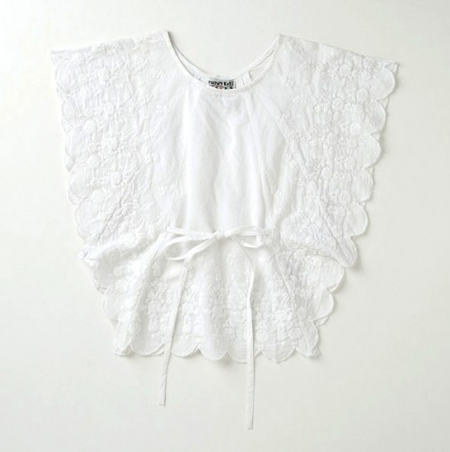 Top With Embroidery and Scalloped Arms And Hem #girls #fashion