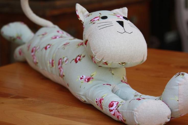 Rosy Cat door stop 70cm long