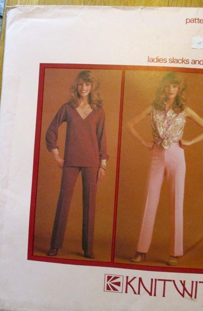 Details about KNITWIT SEWING PATTERN NO. 2100 LADIES SLACKS & SHORTS ...