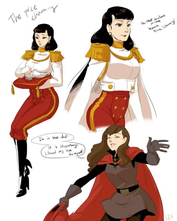 Prince Charming and Prince Phillip genderbend..I just realized how much I love genderbending of Disney characters