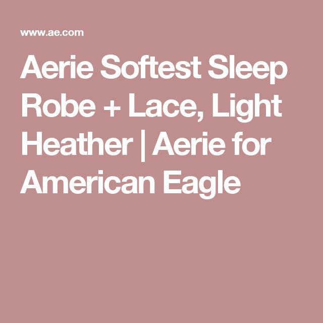 Aerie Softest Sleep Robe + Lace, Light Heather | Aerie for American Eagle