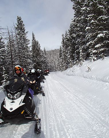 Snowmobiling in Winter Park, Colorado - fun for the whole family!
