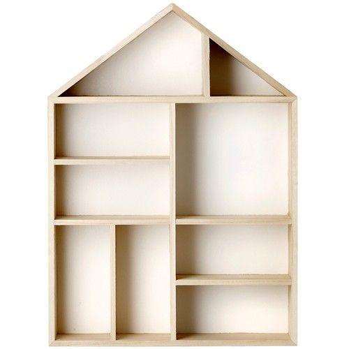 wooden house type case blooming mini ville | ilovespeelgoed.nl