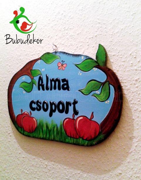 Óvodai csoport tábla egyedi alma, gesztenye, Baba-mama-gyerek, Dekoráció, Gyerekszoba, Meska