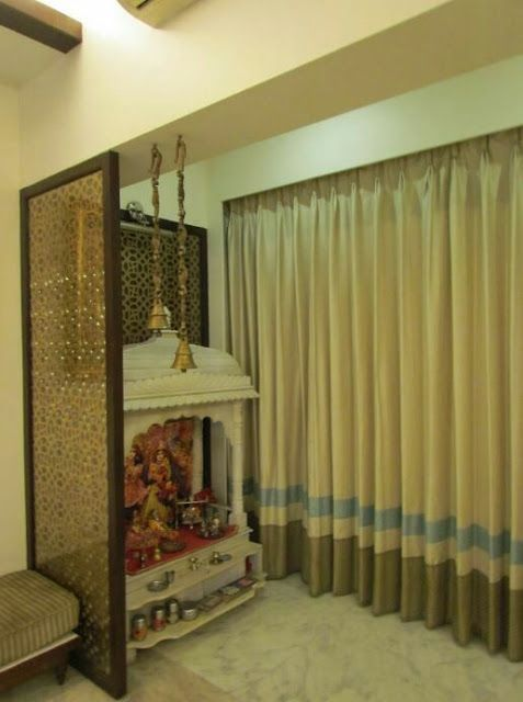 9 Traditional Pooja Room Door Designs In 2020: SMALL POOJA UNITS FOR YOUR WALL In 2020
