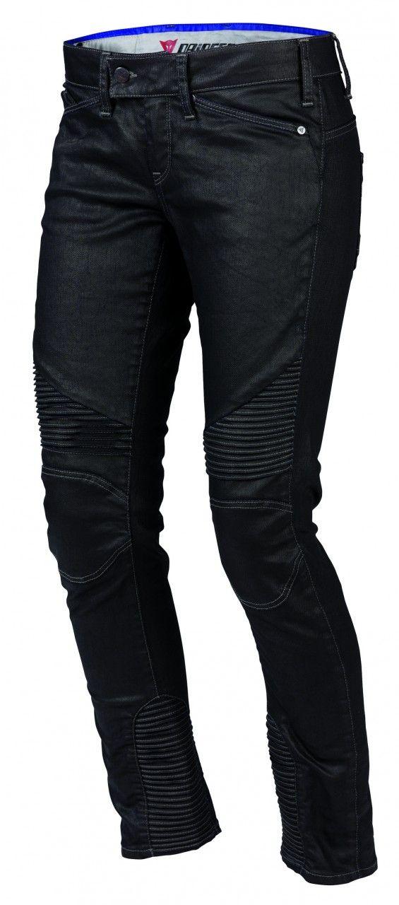 Dainese Women's D25 Denim Textile Pants - 2013 http://www.dainese.com/es_es/motorbike/p-d25-denim-lady.html
