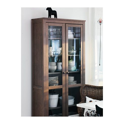 Hemnes glass door cabinet from ikea to hold arts and craft for Dining room equipment