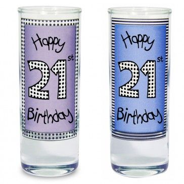 21st birthday gift and presents these shot glasses are perfect