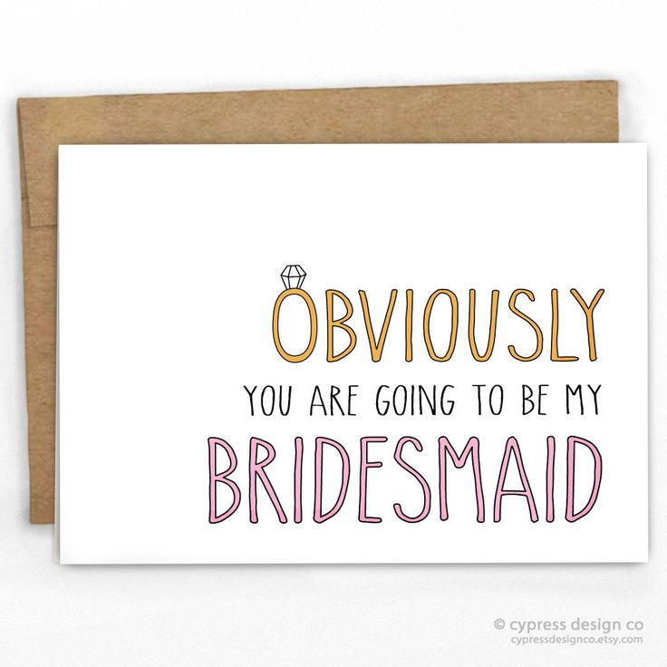 Will You Be My Bridesmaid Card | Obviously by Cypress Card Co. | 100% Recycled | See more at www.cypresscardco.com