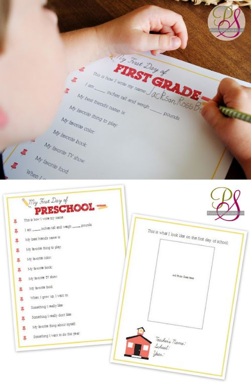 First-Day-of-School Interviews for Kids (Free Printables) for grade PK through 12th grade. For their school work organization bin