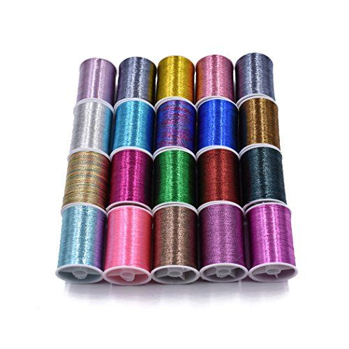 20 Spools Assorted Colors Flash Tinsel Lurex Thread Fly Tying Materials  http://fishingrodsreelsandgear.com/product/20-spools-assorted-colors-flash-tinsel-lurex-thread-fly-tying-materials/  20 spools Lurex Thread for making fishing flies Spool Hegiht: About 25mm. Thread length: About 20m a spool