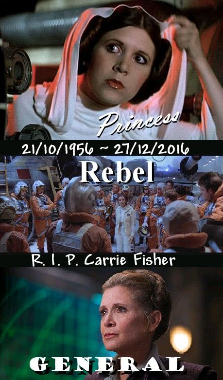 Princess, Rebel, General.  R. I. P. Carrie Fisher