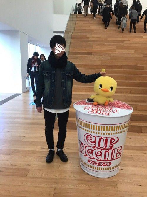 今日は横浜に遊びに来ました! カップヌードルミュージアム行ってきましたー✌️ スヌードコーデをしてみ