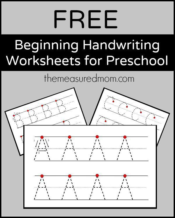 Preschool Writing Practice Sheets Honghankk