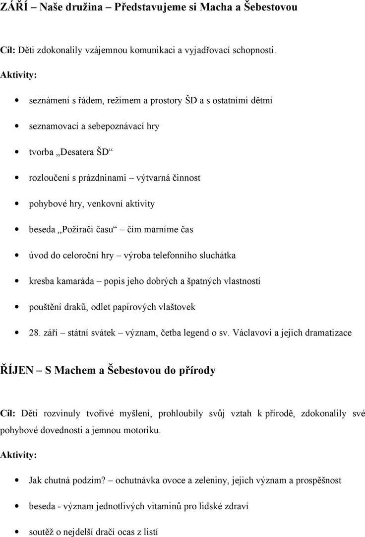 Tematický plán. Putování s Machem a Šebestovou - PDF