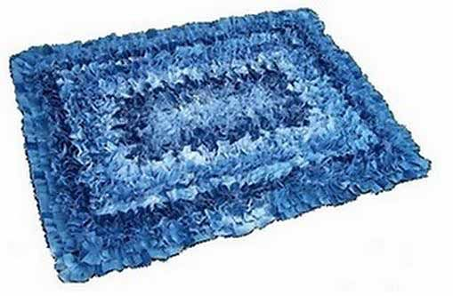 Denim Rug Made From Jeans or Recycled Jeans via Denim Do Over
