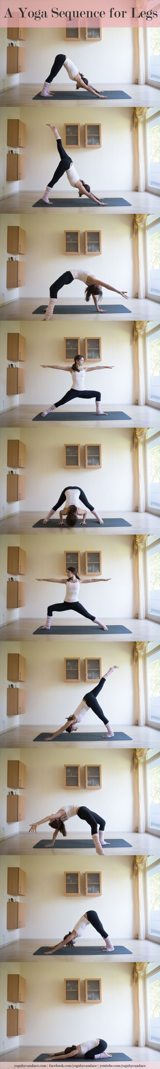 A yoga sequence for legs you can do right from home.