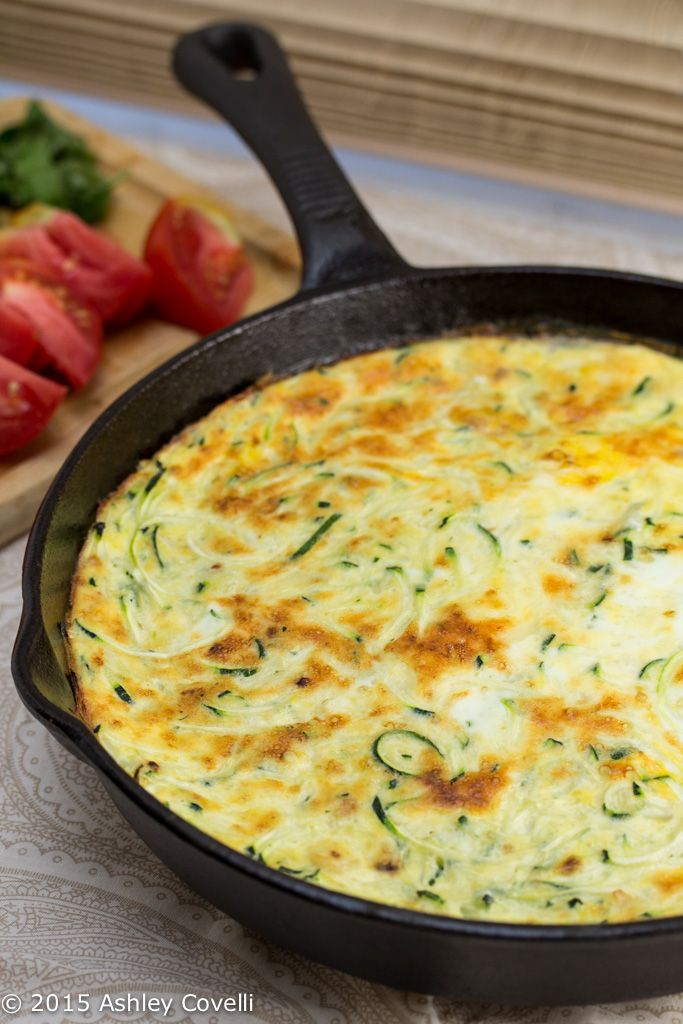 Zoodle Zucchini Frittata - sub milk for cream add bacon and bacon fat