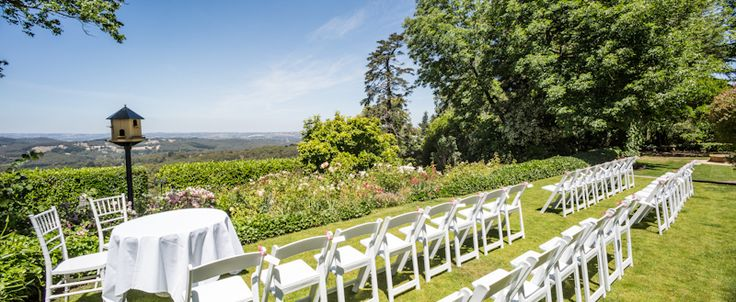 A beautiful view for the wedding guests.