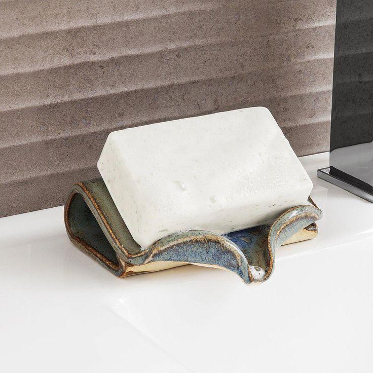 Ceramic Self-Draining Soap Dish | Handmade Bathroo…