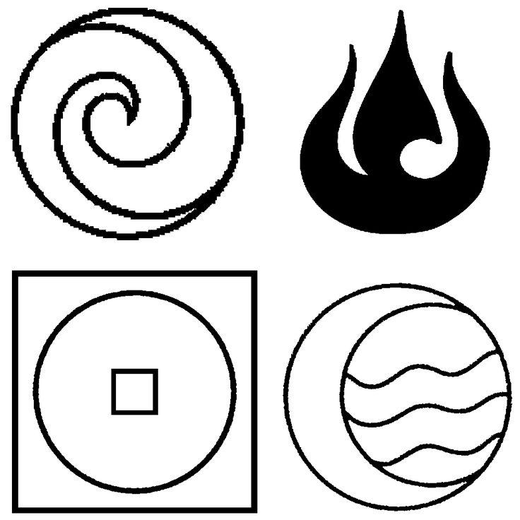 дерет картинки символами огонь и вода увидеть