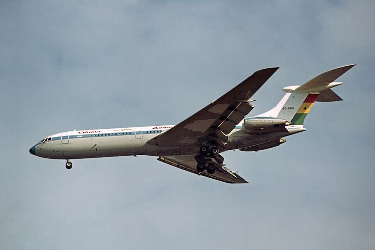 A Ghana Airways Vickers VC10 Srs1102 at London Heathrow Airport (LHR / EGLL) in 1972