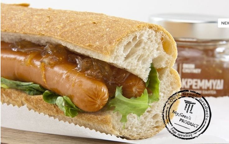 How to prepare delicious HOT DOG... #food #greekproducts #jam #chutney #online #eshop