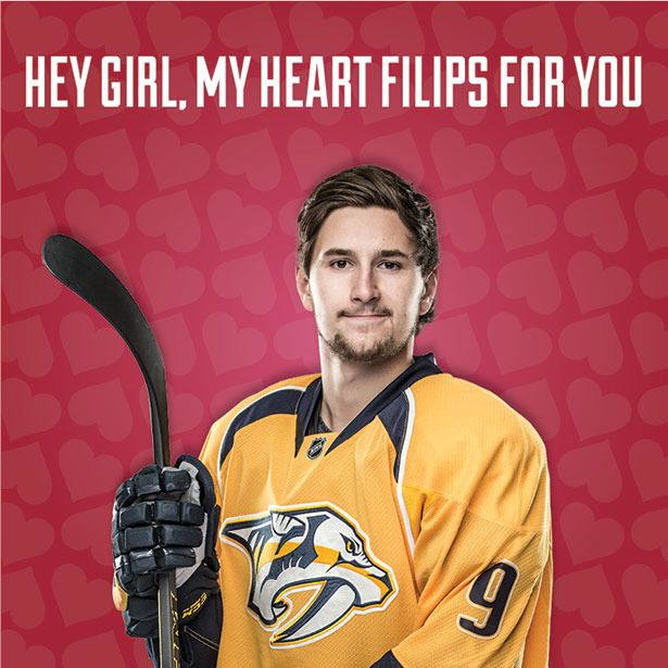 Predators Valentines Day Cards Nashville Predators