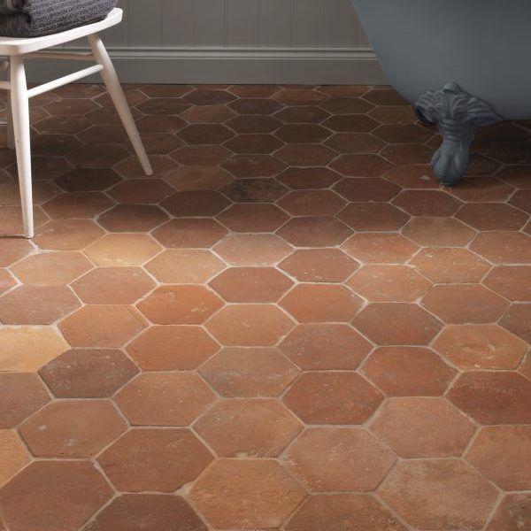 terracotta tiles stone tile bathroom