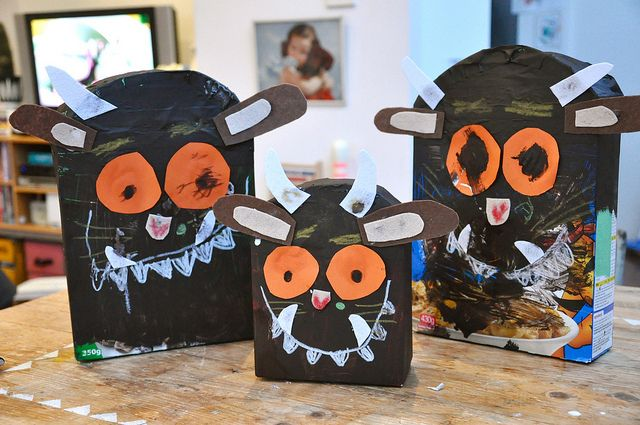 How about making your own Gruffalo from a cereal box? www.forestry.gov.uk/gruffalo